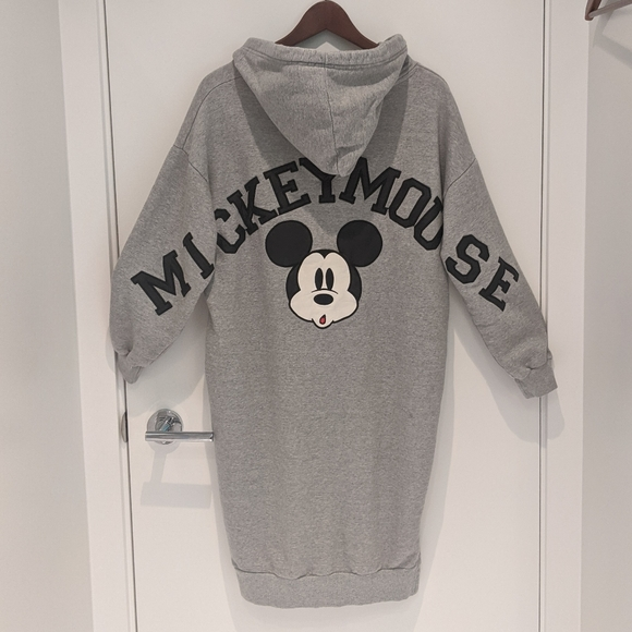 RARE Mickey Mouse Wmn's Hooded Sweater Dress